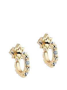 all-we-are-gold-tone-bozena-mini-star-hoop-earring