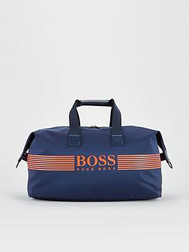 boss-pixel-logo-holdall-bag-navy