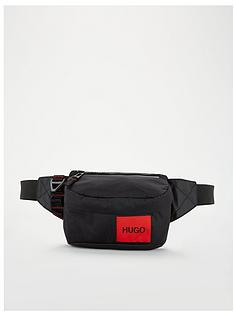hugo-kombinat-record-stripe-bumbag-black