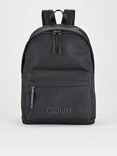 hugo-record-logo-backpack-black