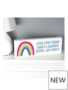 personalised-rainbow-wooden-shelf-block
