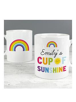 personalised-cup-of-sunshine-and-rainbows-mug