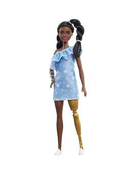 barbie-fashionistas-doll-star-print-denim-dress