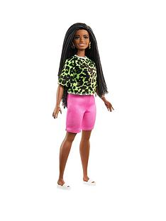 barbie-barbie-fashionistas-doll-neon-leopard-shirt-pink-bike-shorts