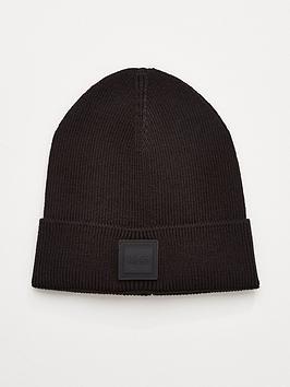 boss-foxxy-knitted-beanie-hat-black