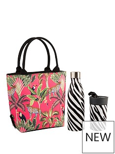 summerhouse-by-navigate-madagascar-insulated-lunch-tote-cheetah-coral-plus-stainless-steel-drinks-bottle-amp-travel-mug