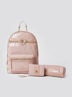 river-island-girls-patent-backpack-pencil-case-and-purse-set--nbsppink