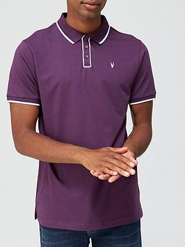 very-man-placket-tipped-jersey-polo-wine