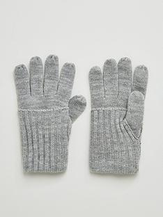 v-by-very-knitted-fold-over-cuff-glove-grey