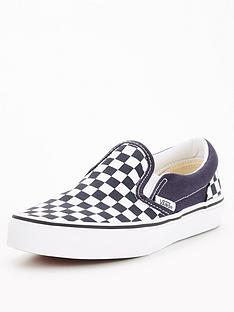 vans-classic-slip-on-checkerboard-junior-trainers-bluewhite