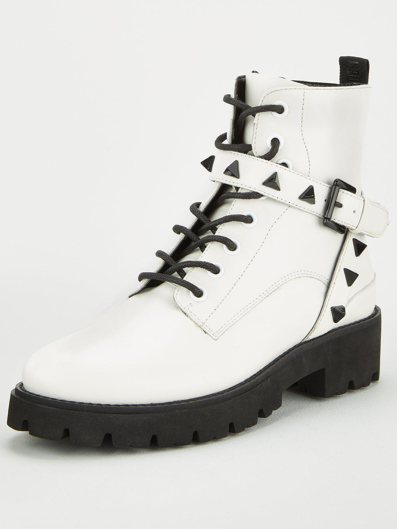 Ankle Boots | White | Boots | Shoes