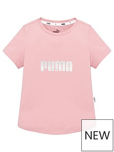 puma-girlsnbspessentials-t-shirt-pink