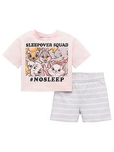 disney-princess-girls-disney-classics-sleepover-squad-shorty-pjs