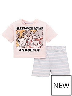 disney-princess-girls-disney-classics-sleepover-squad-shorty-pjs