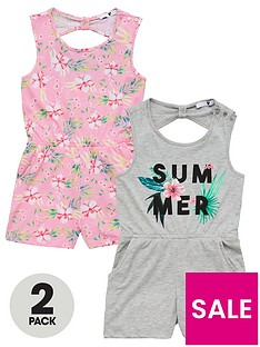 v-by-very-girls-2-pack-summer-playsuits-multi