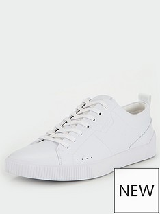 hugo-zero-ten-leather-trainers-white