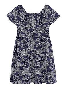 mango-girls-leaf-print-dress-navy
