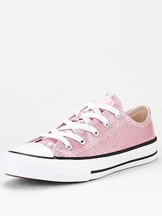 converse-chuck-taylor-all-star-ox-glitter-junior-trainer-pink-white