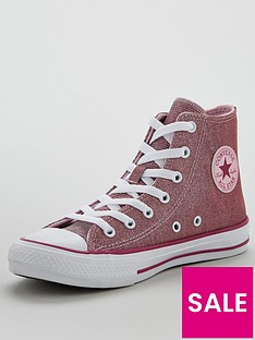 converse-chuck-taylor-all-star-hi-glitter-textile-junior-trainer-red-pink