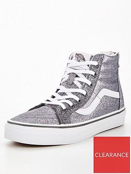 vans-sk8-hi-glitter-junior-trainer-greywhite