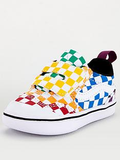 vans-new-skool-checkerboard-infant-trainer-multi