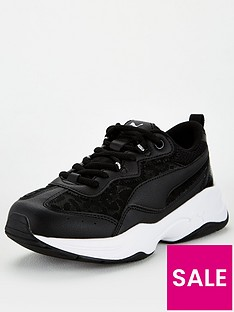 puma-cilia-mesh-glitter-junior-trainers-blackwhite