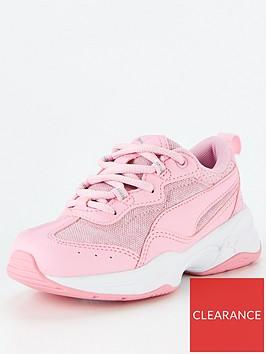 puma-cilia-mesh-glitter-childrens-trainers-pinkwhite