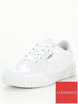 puma-cali-patent-childrens-trainers-white-white
