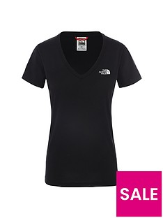 the-north-face-short-sleeve-simple-dome-tee-black-white