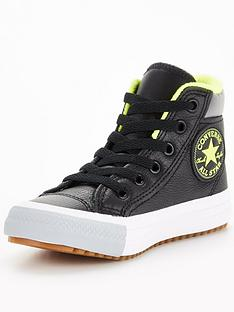converse-chuck-taylor-all-star-leather-childrens-trainers-black