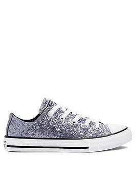 converse-chuck-taylor-all-star-childrensnbspox-glitternbspcoatednbspplimsolls-silver