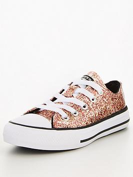 converse-childrensnbspchuck-taylor-all-star-ox-coated-glitter-trainersnbsp--coral