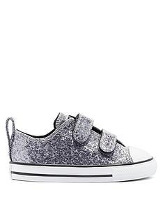 converse-chuck-taylor-all-star-infantsnbsp2v-ox-glitternbspcoated-plimsolls-silver