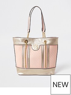 river-island-girls-metallic-jacquard-shopper-bag--nbsppink