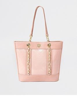 river-island-girls-patent-shopper-bag--nbsppink