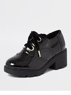 river-island-girls-patent-brogue-heeled-shoe--nbspblack