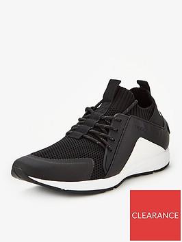hugo-hybrid-knit-runner-trainers-blackwhite