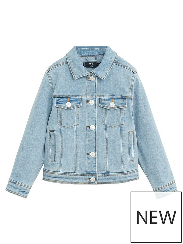 Mango Girls Denim Jacket Light Blue
