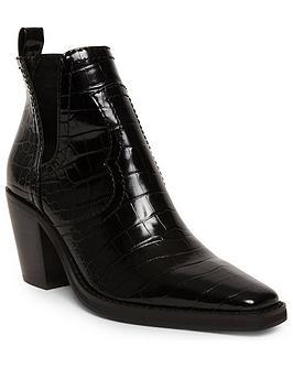 Steve Madden Grayley Ankle Boots - Black