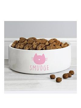 the-personalised-memento-company-personalised-cat-bowl