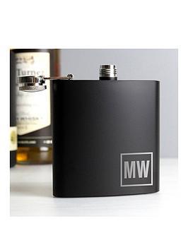 the-personalised-memento-company-personalised-black-monogram-hip-flask