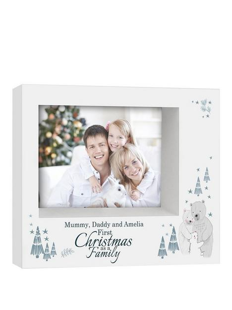 personalised-our-first-family-christmas-photo-frame