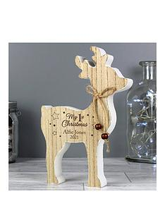 personalised-reindeer-my-1st-christmas-wooden-decoration