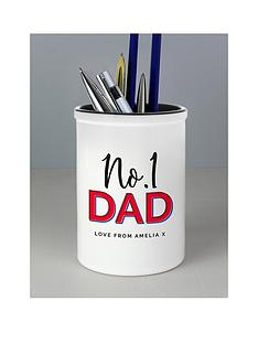 personalised-no1-dad-pen-pot