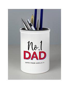 personalised-no1-dad-pen-pot