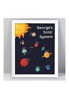 personalised-solar-system-framed-print