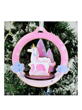 personalised-3d-unicorn-christmas-decoration