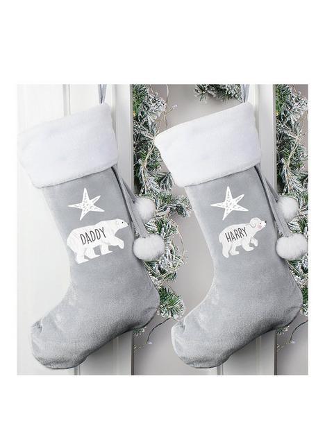 personalised-family-polar-bear-stocking