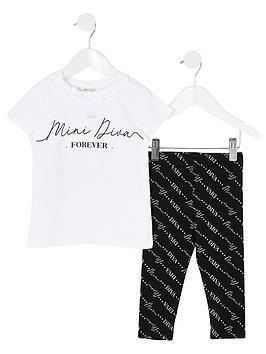 river-island-mini-girls-diva-printed-t-shirt-and-legging-set--nbspwhite