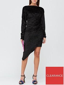 vivienne-westwood-ray-metallic-jersey-dress-black